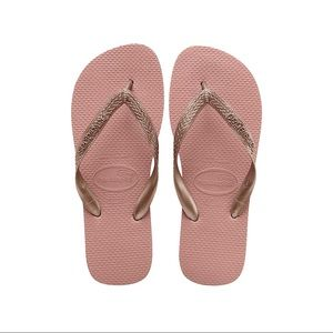 NWT Havainas Rose Nude Flip Flops